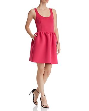 Aqua Neoprene Fit-and-Flare Dress - 100% Exclusive