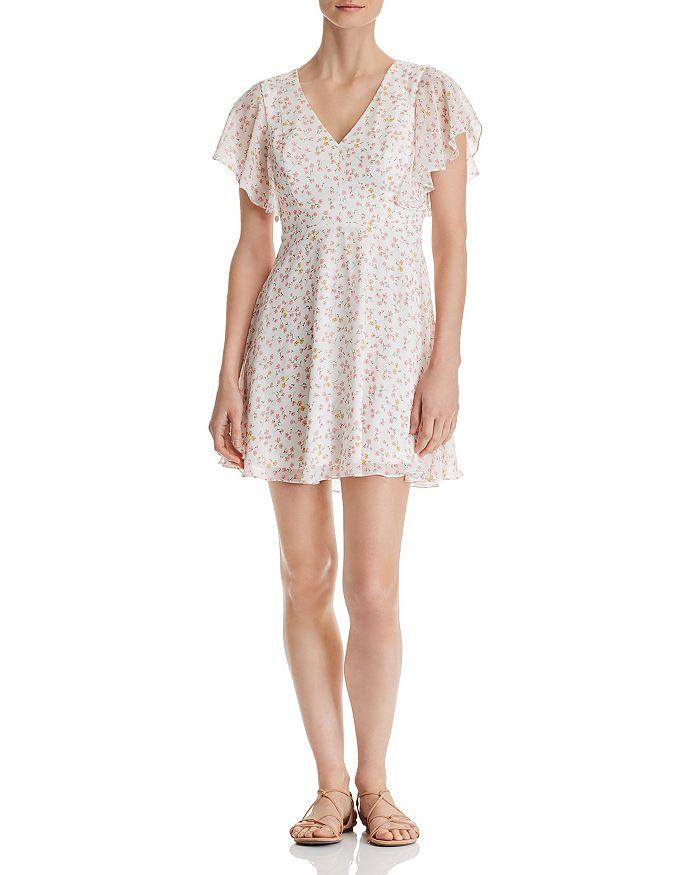 AQUA - Floral-Print V-Neck Dress - 100% Exclusive