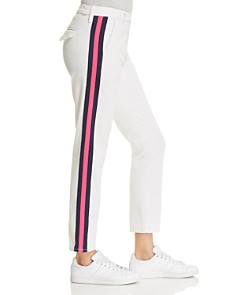 MOTHER - The Straight Shaker Jeans in in Chalk/Pink Racer