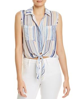 6107509a3 Bella Dahl - Sleeveless Tie-Front Blouse ...