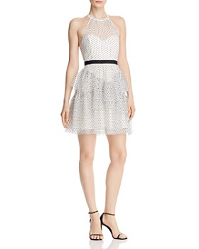 c07eac31ecd7 BCBGMAXAZRIA - Polka-Dot Mesh Dress ...