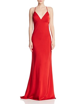 Faviana Couture - Draped Satin Gown