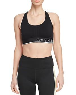 Calvin Klein - Textured Logo Sports Bra