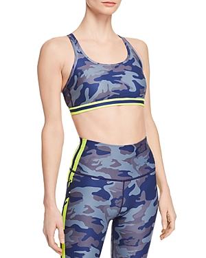 Wear It To Heart Camo Strappy Sports Bra