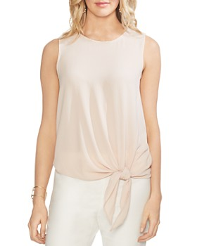 ddbfc5c476d VINCE CAMUTO - Sleeveless Tie-Front Top ...