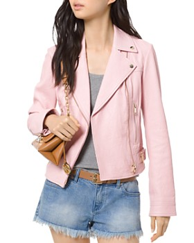 4f55411db72 MICHAEL Michael Kors - Crinkled-Texture Leather Moto Jacket ...