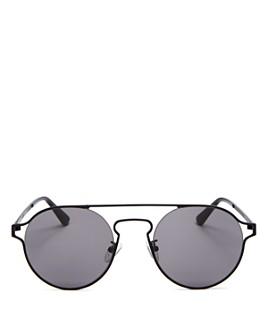 McQ Alexander McQueen - Unisex Brow Bar Round Sunglasses, 54mm