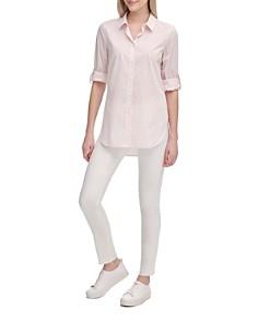 Calvin Klein - Striped High/Low Shirt