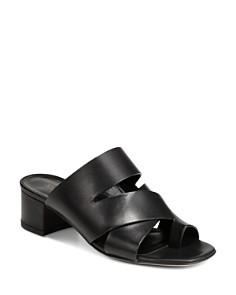Via Spiga - Women's Fae Leather Block Heel Sandals