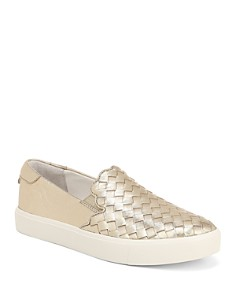 Sam Edelman - Women's Eda Woven Leather Slip-On Sneakers