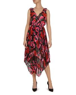 The Kooples - Dolce Vita Floral-Print Pleated Midi Dress