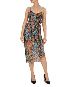 The Kooples - Tokyo Night Floral-Print Midi Overlay Dress