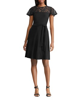 Ralph Lauren - Lace-Inset Dress