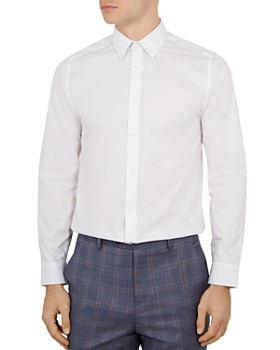 3316cdf1d Ted Baker - Timone Diamond Phormal Slim Fit Shirt ...