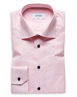 Eton Dresses CHECK SLIM FIT DRESS SHIRT