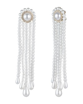 Carolee - Simulated Pearl Tassel Earrings