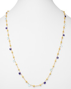 "Marco Bicego - 18K Yellow Gold Paradise Iolite & Blue Topaz Long Single-Strand Necklace, 36"" - 100% Exclusive"