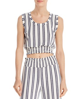 Vintage Havana - Striped Cropped Top
