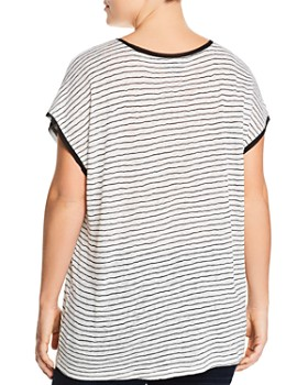 B Collection by Bobeau Curvy - Therese Striped Short-Sleeve Sweater