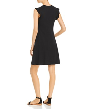 Three Dots - Sleeveless Ruffle-Trim T-Shirt Dress