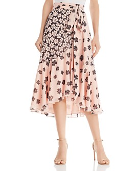 Fame and Partners - Floral-Print Midi Wrap Skirt