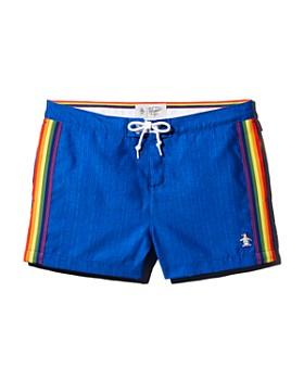 Original Penguin - Rainbow-Tape Swim Shorts - 100% Exclusive