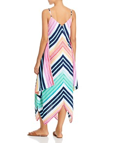 Tommy Bahama - Rainbow Chevron Maxi Scarf Dress Swim Cover-Up