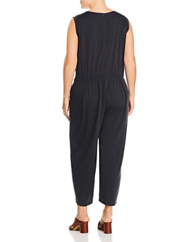 Eileen Fisher Plus - Cropped Wide-Leg Jumpsuit