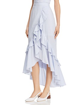 BB DAKOTA - Gingham Ruffle Skirt