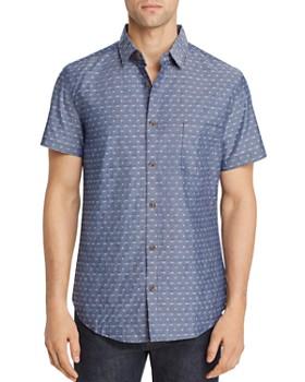 b9b3af7a Sovereign Code - Antz Short-Sleeve Geometric Jacquard Slim Fit Shirt ...