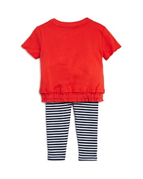 Splendid - Girls' Knit Top & Striped Leggings Set - Baby