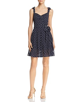 Betsey Johnson - Dot-Print Sleeveless Dress