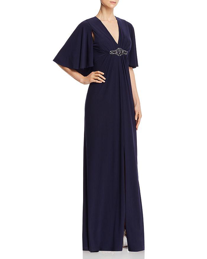 Eliza J - V-Neck Cape Back Gown