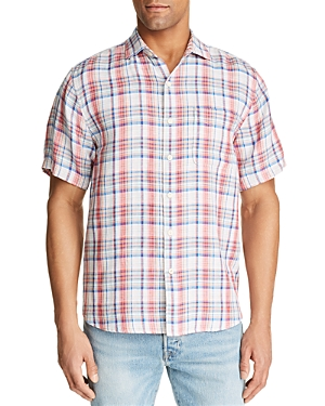 Tommy Bahama Linens SWITCH UP SHORT-SLEEVE DOUBLE-FACED PLAID CLASSIC FIT SHIRT
