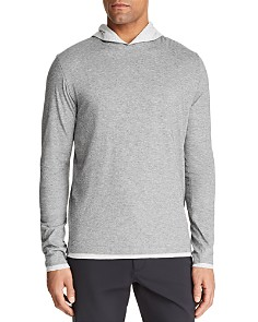Theory - Daulton Double-Layer Hooded Long-Sleeve Tee - 100% Exclusive