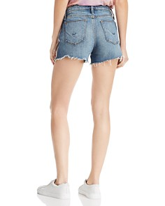 Hudson - Gemma Cutoff Denim Shorts with Zipper Sides in Atmosphere