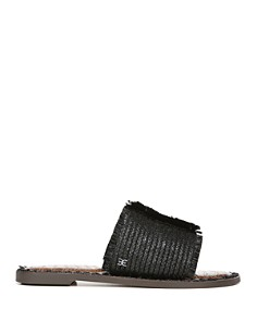 Sam Edelman - Women's Glenda Raffia Frayed Slide Sandals