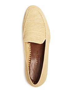 CASABLANCA1942 - Men's Beppe Raffia Apron-Toe Loafers