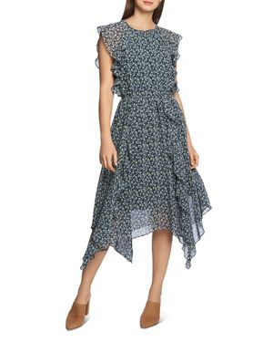 Image of 1.state Cascading Ruffle Handkerchief-Hem Dress
