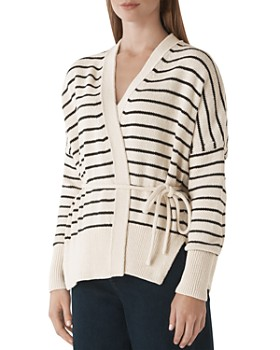 3317553004a5 Whistles - Striped Wrap Cardigan ...