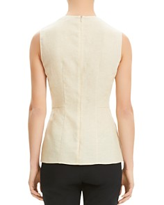 Theory - Paneled Linen Top