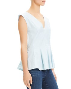 Theory - Pleated Peplum Top