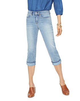 NYDJ - Marilyn Cropped Straight-Leg Jeans in Cano