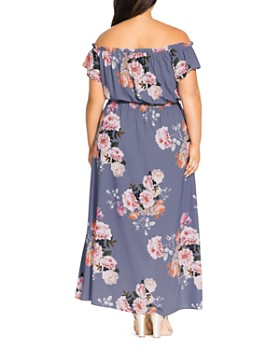 8276579682 ... City Chic Plus - Florence Floral Off-the-Shoulder Maxi Dress