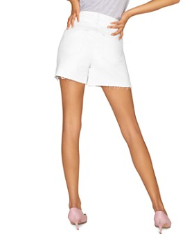 Sanctuary - Frayed-Hem Denim Shorts in Angeleno White