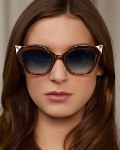 Fendi - Women's Embellished Logo Cat Eye Sunglasses, 52mm