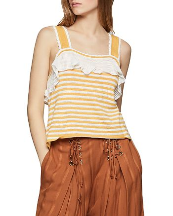 BCBGENERATION - Pointelle Striped Tank - 100% Exclusive
