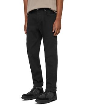 ALLSAINTS - Carter Straight Fit Jeans in Jet Black