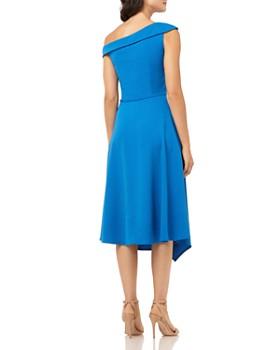 Carmen Marc Valvo Infusion - Asymmetric Off-the-Shoulder Dress