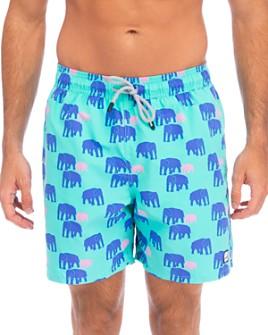 TOM & TEDDY - Elephant-Print Swim Trunks